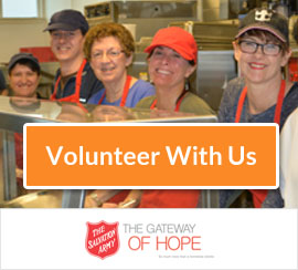 Volunteer with The Gateway of Hope, Salvation Army